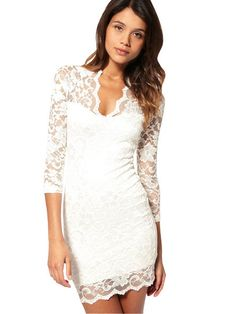 Lacy White dress. This would be a totally cute dress, for after the wedding ceremony. I would wear this to the reception for a more comfortable option!