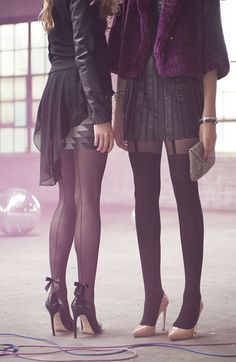 mock garter tights, my new obsession