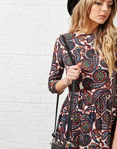 #ARKLOVES Paisley print from Glamorous: the Karly Paisley Shift Dress