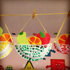 Kids fruit crafts, nutrition crafts for kids, vegetable crafts, basket craf Kids Fruit Crafts, Vegetable Crafts, Fruits For Kids, Art And Craft Videos, Basket Crafts, Fruit Of The Spirit, Paper Plate Crafts, Fruit Art, Food Themes