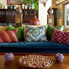 Stunning Bohemian Interior Design You Will Love. Bored with the same house design? It's time for you to try a new design that certainly makes your home look fresh and more comfortable. One design. My Living Room, Home And Living, Living Room Decor, Living Spaces, Living Area, Ethnic Living Room, Cozy Living, Modern Living, Bohemian Interior