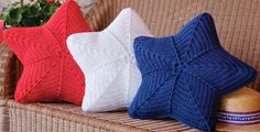 Festive crochet pillows for the 4th of July