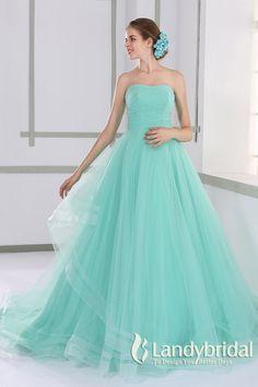 カラードレス プリンセス 取り外し式リボン ビスチェ ミントグリーン チュール JUL015005 ¥59,000