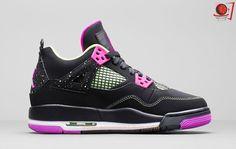 Trendy Ideas For Womens Sneakers : Girls Air Jordan 4 Retro GG Fuschia (Detailed Pics) Retro Sneakers, Girls Sneakers, Air Max Sneakers, Discount Shoes Online, Cheap Shoes Online, Jordan 4, Fashion Boots, Sneakers Fashion, Net Fashion