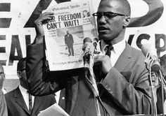 """Malcolm X """"Usually when people are sad, they don't do anything. But when they get angry, they bring about a change."""" A collection of audio-files of Malcolm X's most. Malcolm X, Black History Facts, Black History Month, Human Rights Activists, By Any Means Necessary, Civil Rights Movement, African American History, Black Power, Black People"""