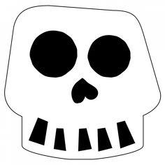 Free Printable Halloween Skull Decoration Banner | Paper Trail Design Diy Halloween Tree, Halloween Skull, Halloween Design, Halloween House, Halloween Decorations, Printable Banner, Templates Printable Free, Free Printables, Skeleton Template