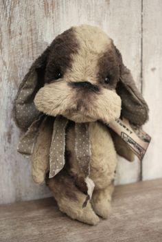 Artist Bear handmade Puppy Sidney by bearwithmee on Etsy, £95.00