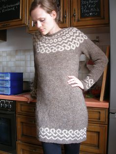 I hope this lopapeysa dress counts as a lopi sweater.