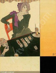 BOLEGARD Joseph - Kartenspiel (Entwurf für die Vogue)