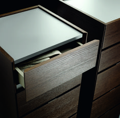 Both Material and colour pallet is essential when choosing the right design for your drawers. We love the natural dark wood of the drawer that contrasts beautifully with the smooth grey top, leaving the overall design with a natural and warm feel whilst keeping it simple and modern. If you are looking for help or inspiration for your next design project, drop us a message or comment below 👇 Contemporary Chest Of Drawers, Modern Drawers, Wood Drawers, Contemporary Bedroom, Modern Bedroom, Bedroom Chest Of Drawers, Rooms For Rent, Color Pallets, Small Rooms