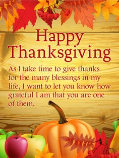 Thanks for the Many Blessings -  Happy Thanksgiving Card | Birthday & Greeting Cards by Davia