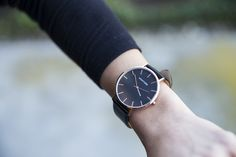 Montford Watches - Rose Gold / Black Leather