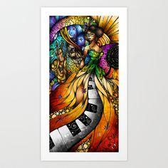 Mardi Gras 2014 Art Print by Mandie Manzano - $15.60