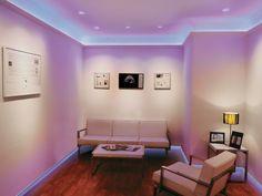 LED Strip Lighting Design Ideas for Living Room - Strip Lighting, Cool Lighting, Lighting Design, Lighting Ideas, Led Decoration, Deco Led, Lumiere Led, Diy Home, Luz Led