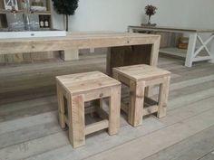 Landelijke tafel Freya. Exclusieve tafels van steigerhout op maat gemaakt. - Steigerhout Furniture | Unieke steigerhouten meubelen & tuinmeubelen op maat gemaakt!