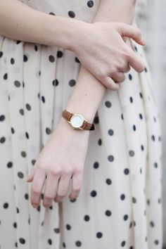 Image Via: Brown Dress With White Dots