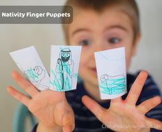 Nativity Finger Puppets - Advent Activities for Kids {Weekend Links} from HowToHomeschoolMyChild.com