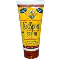 All Terrain KiDisplayort Performance Sunscreen SPF 30 - 3 fl oz All Terrain KiDisplayort Performanc by All Terrain. $25.50. This product may be prohibited inbound shipment to your destination.. Please refer to SKU# ATR26137377 when you inquire.. Shipping Weight: 0.25 lbs. Picture may wrongfully represent. Please read title and description thoroughly.. Brand Name: All Terrain Mfg#: 0577478. . All Terrain KidSport Performance Sunscreen SPF 30 .Description:. .  - No Slip...