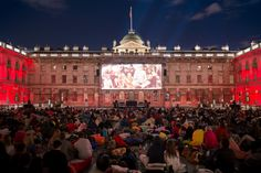 Open air cinema at Somerset House