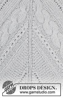 """Winter Flair / DROPS - Knitted DROPS tunic with cables, garter st and lace pattern, worked top down in """"Alpaca"""" and """"Kid-Silk"""". Size: S - XXXL. Knitting Stitches, Knitting Patterns Free, Free Knitting, Baby Knitting, Free Pattern, Drops Design, Drops Patterns, Textures Patterns, Knitting Projects"""