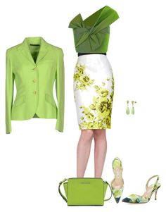 Green of Wednesday by pravida-amp on Polyvore featuring Maticevski, Ralph Lauren, Lela Rose, Manolo Blahnik and Michael Kors
