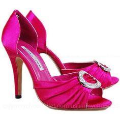 Manolo Blahnik Hollow Round Diamond Satin Sandals Rose 7506 Design works No.468 |2013 Fashion High Heels|