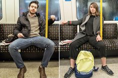 Image result for women manspreading
