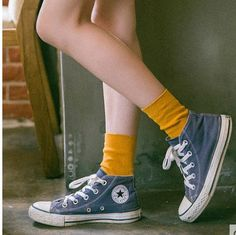 Color: 1 2 3 4 5 6 7 8 9 10 11 12 size: one size Your satisfaction is the aim of our services, if you are not satisfied with the goods within 10 days we are accept refund or exchange .wish you have a lovely day thank you ! Sock Shoes, Cute Shoes, Me Too Shoes, Outfits With Converse, Converse Shoes, Blue Converse Outfit, Look Fashion, Fashion Outfits, Tube Socks