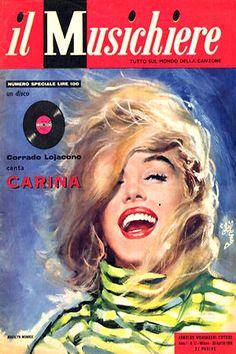 1959: Il Musichiere (Italian) magazine cover of Marilyn Monroe .... #normajeane #vintagemagazine #pinup #iconic #raremagazine #magazinecover #hollywoodactress #monroe #marilyn #1950s