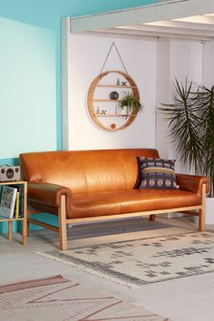 Shop Cresley Leather Sofa at Urban Outfitters today. We carry all the latest styles, colors and brands for you to choose from right here.
