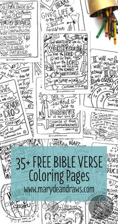 More than 35 (and always adding) FREE hand-drawn Bible verse coloring pages for children and adults to learn the Bible! Spanish and English coloring pages. Learn The Bible, Bible Study For Kids, Scripture Study, Bible Art, Kids Bible, Bible Verse Crafts, Bible Activities For Kids, Bible Verses For Kids, Preschool Bible Lessons