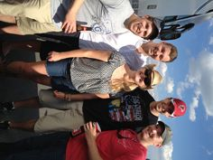 That Heidi Williamson, Craig Paris's right hand person in the Development office, gets around. Here she is with '06 guys Steve Popper, Mike McGuire, Tom McCarthy and Mark Van Orden at the Aug 10 Kenny Chesney concert @ the Meadowlands