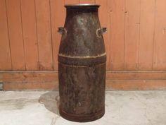 特大アンティークミルク缶ビンテージ傘立てガーデニング Antique milk tank ¥4000円 〆03月25日