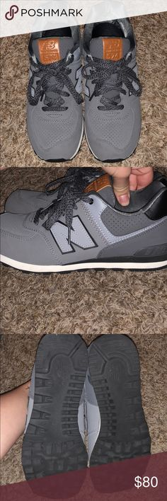 new balance shoes they are a grey on grey pair of new balances size 5.5 (they're mens sizing so a 7.5 in womens). they have only been worn twice. they're really comfortable and cute just not my style New Balance Shoes Athletic Shoes