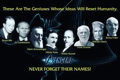 Research these amazing people who were visionary geniuses. #royalrife #edleedskalnin #viktorschauberger #nikolatesla #walterrussell #frankchester #wilhelmreich #buckyfuller