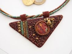 bead embroidery necklace - Google Search