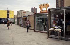 Dekalb Market, retail, food, and other businesses housed in a collection of salvaged shipping containers in Brooklyn.