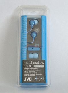#ONSALENOW - JVC HAFR36A Marshmallow Earbuds with Microphone&Remote for iphone/ipad (Blue)