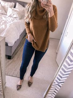47 Stylish Work Outfits Ideas With Flats - Work Outfits Women Stylish Work Outfits, Business Casual Outfits, Winter Outfits For Work, Work Casual, Cute Outfits, Casual Friday Work Outfits, Fall Outfits, Casual Office, Business Attire