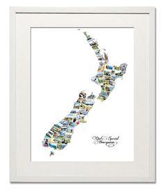 New Zealand Wedding, Honeymoon or Anniversary Collage