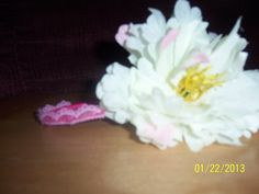 Beautifully Handcrafted white and pink FANCY by NAESBARGINBASEMENT, $6.00