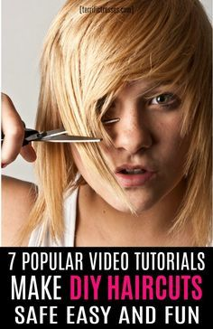 Cutting your hair at home does not have to produce a hot mess. Proven hacks and DIY video tutorials are easy to find for cutting layers into long, straight hair, creating pretty bangs, trimming split ends, or that explain how to cut your hair into a bob. Long Hair V Cut, Cut Own Hair, Cut Hair At Home, Trim Your Own Hair, How To Cut Your Own Hair, Straight Hair, Dyi Hair Cut, How To Layer Hair, Diy Hair Trim