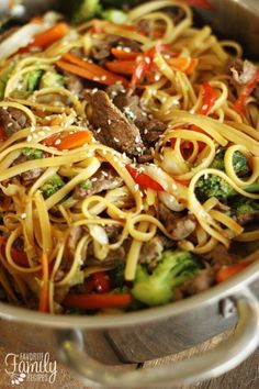 Quick and Easy Beef Noodle Stir Fry | Favorite Family Recipes | Bloglovin'