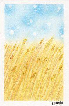 ここあーと 七十二候 麦秋至 Soft Pastel Art, Pastel Drawing, Art Ideas, Illustrations, Cartoon, Drawings, Cards, Painting, Inspiration