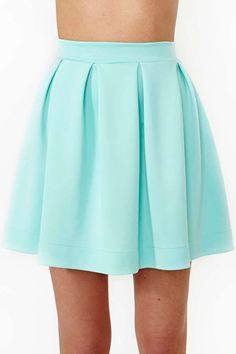 New skirt skater blue shoes 60 Ideas Cute Skirts, Short Skirts, Cute Fashion, Teen Fashion, Mint Skirt, Skater Skirts, Blue Shoes, Diy Clothes, Fashion Sets