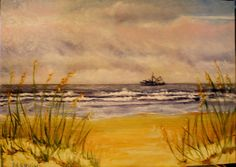 Mytle Beach Fishing Boat Original Painting Seascape Oil on 10 x 14 canvas panel Original Paintings For Sale, Original Artwork, Mytle Beach, Paint And Sip, Hilton Head Island, Beautiful Sunrise, Fishing Boats, Artsy Fartsy, The Originals