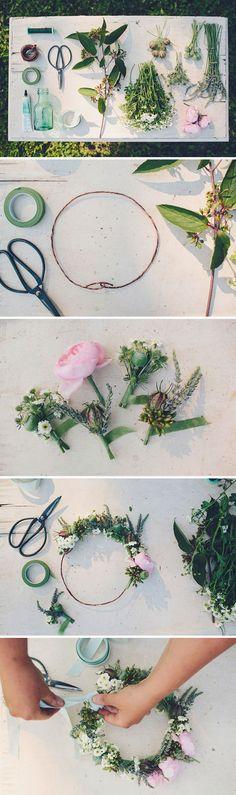 regardsetmaisons: La couronne de fleurs - DIY-