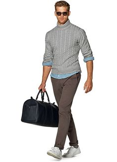 Brown Washed Chino B793 | Suitsupply Online Store