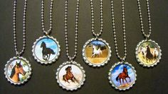 Quantity of 6 Horse Birthday Party Favors Bottlecap Necklaces Goody Bags for Kids. $12.20, via Etsy.