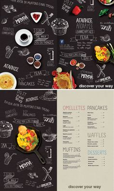 Avec une tasse et une part de tarte ??? http://media02.hongkiat.com/beautifully-designed-food-menus/11-drinks-and-food-menu-restaurant-designs.jpg